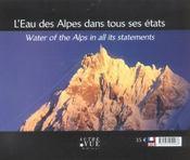 Eau des alpes dans tous ses etats (l') - 4ème de couverture - Format classique