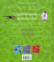 Gigantesques Et Minuscules - 4ème de couverture - Format classique