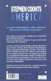 America - 4ème de couverture - Format classique