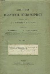Archives D'Anatomie Microscopique. Extrait : Etudes Sur L'Hypophyse Par M.C. Soyeer. Tome Xiv, Fascicules I Et Ii. - Couverture - Format classique