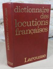 Dictionnaire des locutions françaises. - Couverture - Format classique