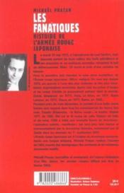 Les fanatiques ; histoire de l'armée rouge japonaise - Couverture - Format classique