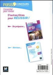 PASS'CONCOURS ; concours IFSI (édition 2017) - 4ème de couverture - Format classique