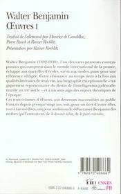 Oeuvres t.1 - 4ème de couverture - Format classique
