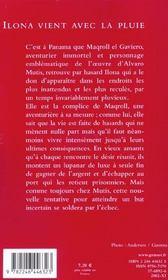Ilona Vient Avec La Pluie - 4ème de couverture - Format classique
