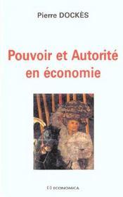 Pouvoir Et Autorite En Economie - Intérieur - Format classique