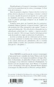 Pouvoir Et Autorite En Economie - 4ème de couverture - Format classique