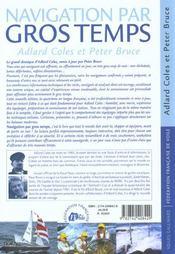 Navigation Par Gros Temps - 4ème de couverture - Format classique