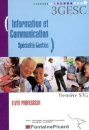 Corrige information et gestion specialite gestion ; premiere stg - Couverture - Format classique