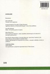 Recherches Linguistiques De Vincennes T.36 ; Le Tournant Inductif Dans Les Sciences Du Langage - 4ème de couverture - Format classique
