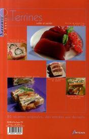Terrines salées et sucrées - 4ème de couverture - Format classique