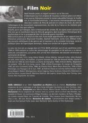 Le film noir ; vrais et faux cauchemars - 4ème de couverture - Format classique