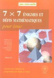 7x7 enigmes 4eme/3eme - Couverture - Format classique
