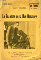 Le Scandale De La Rue Boissiere. - Couverture - Format classique