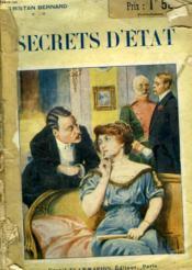 Secrets D'Etat. - Couverture - Format classique