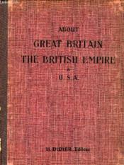 About Great Britain, The British Empire & Usa - Couverture - Format classique