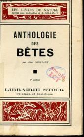Anthologie Des Betes - Couverture - Format classique
