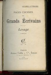 PAGES CHOISIES DES GRANDS ECRIVAINS - lesage - Couverture - Format classique