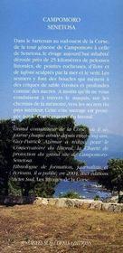 Campomoro-Senetosa - 4ème de couverture - Format classique