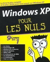 Windows xp 9 en 1 pour les nuls - Intérieur - Format classique