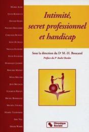Intimite, secret professionnel et handicap - Couverture - Format classique