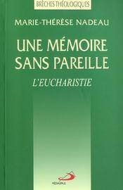 Memoire sans pareille (une) - Intérieur - Format classique
