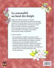 Massage sensuel - 4ème de couverture - Format classique