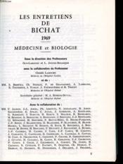 LES ENTRETIENS DE BICHAT 1969 : Medecine et Biologie. - Couverture - Format classique