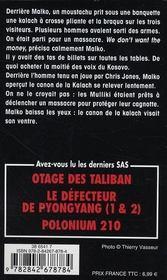 SAS T.171 ; l'agenda Kosovo - 4ème de couverture - Format classique