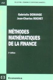 Methodes Mathematiques De La Finance - Intérieur - Format classique