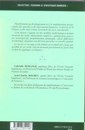 Methodes Mathematiques De La Finance - 4ème de couverture - Format classique