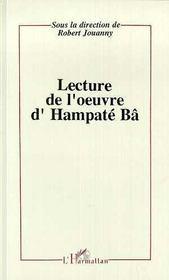 Lecture De L'Oeuvre D'Hampate Ba - Intérieur - Format classique