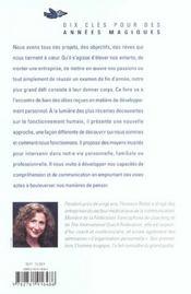Le Bonheur Si Je Veux ; Dix Cles Pour Des Annees Magiques - 4ème de couverture - Format classique