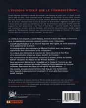 Prison break ; les dossiers secrets du FBI - 4ème de couverture - Format classique