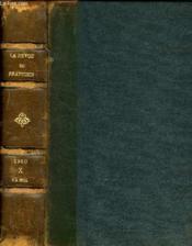 La Revue Du Praticien, Journal D'Enseignement Post-Universitaire, Tome X, N°1-11 - Couverture - Format classique