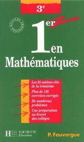 Premier En Mathematiques En 3e - Intérieur - Format classique