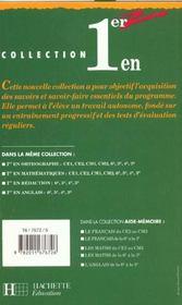 Premier En Mathematiques En 3e - 4ème de couverture - Format classique