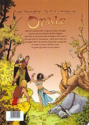 Les forêts d'Opale T.1 ; le bracelet de Cohars - 4ème de couverture - Format classique