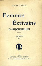 Femmes Ecrivains D'Aujourd'Hui, I, Suede - Couverture - Format classique