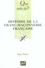Histoire de la franc-maconnerie francaise - Intérieur - Format classique