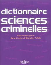 Dictionnaire des sciences criminelles (1re édition) - Intérieur - Format classique
