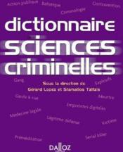 Dictionnaire des sciences criminelles (1re édition) - Couverture - Format classique