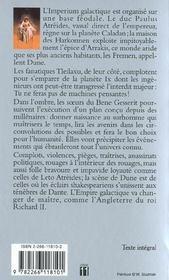 Avant Dune T.1 ; La Maison Des Atreides - 4ème de couverture - Format classique