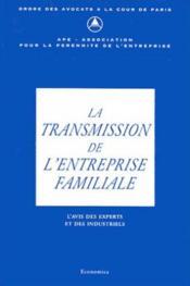 La transmission de l'entreprise familiale - Couverture - Format classique