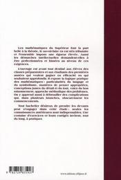Maîtriser les mathématique ; licence et préepas - 4ème de couverture - Format classique