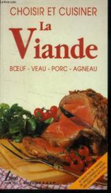 Choisir et cuisiner viande - Couverture - Format classique