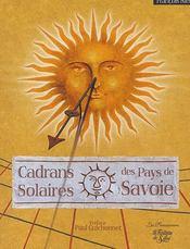 Les cadrans solaires des pays de Savoie - Couverture - Format classique