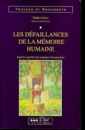 Les Defaillances De La Memoire Humaine - Couverture - Format classique