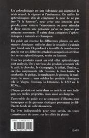 Guide Des Aphrodisiaques - 4ème de couverture - Format classique
