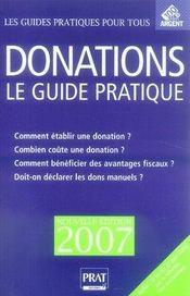 Donations, le guide pratique (édition 2007) - Intérieur - Format classique